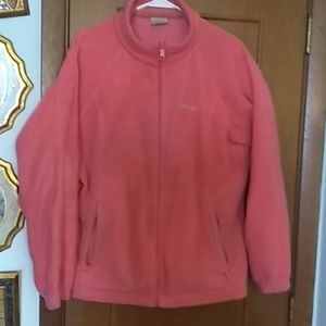 Columbia jacket in Melon color, size 1X.